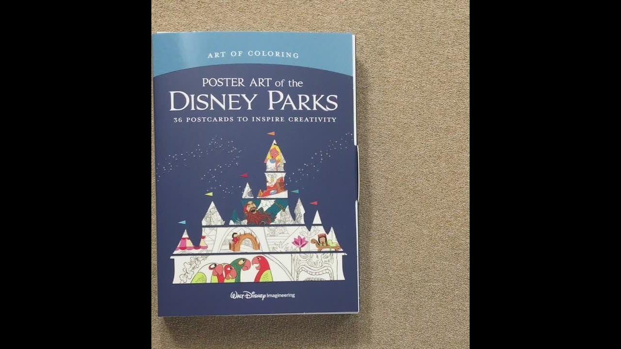 - Poster Art Of The Disney Parks Postcards Flip Through - YouTube