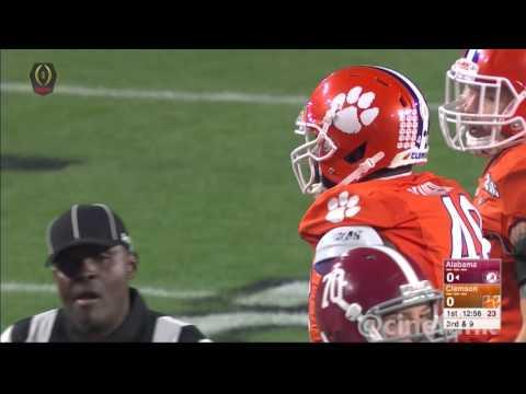 2016 National Championship: #2 Alabama Crimson Tide vs #1 Clemson Tigers Full Game 1080p60