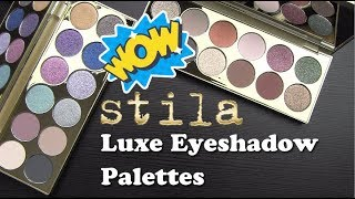 New STILA LUXE EYESHADOW PALETTES: Live Swatches & Review