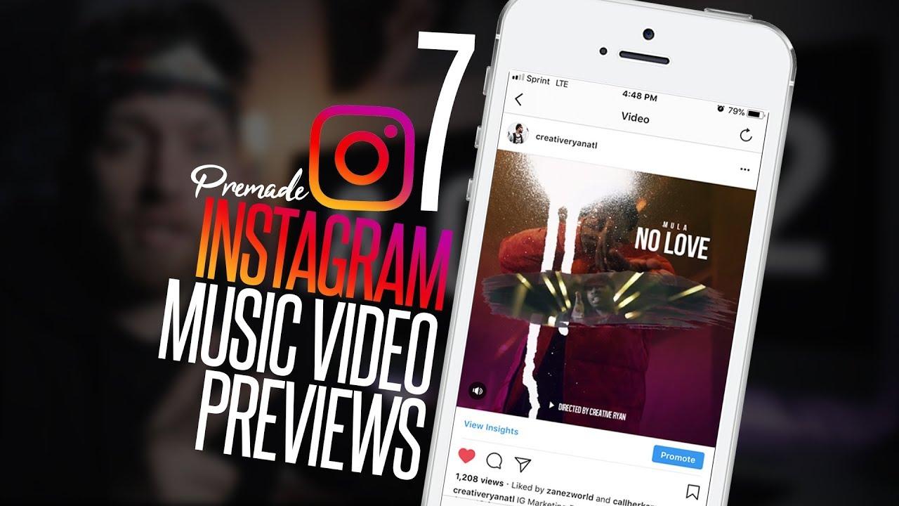 7 Instagram Music Video Frame Templates! - YouTube