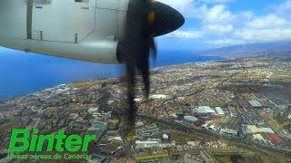 My SHORTEST FLIGHT of 2018! UNCUT Full Flight of Binter Canarias ATR 72 to Tenerife North