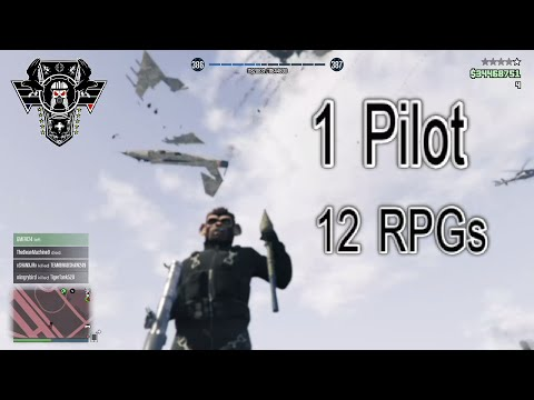 RPG'd 12 Times, Jet Pilot Keeps Coming Back For More - GTA 5
