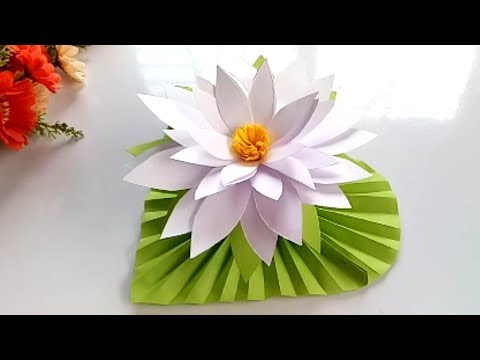 How to make water Lily with paper.