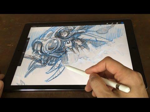 iPad Pro 12.9 & Pencil Artist Review (vs Cintiq Companion)