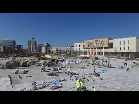 Report TV - Veliaj: Sheshi 'Skëndërbej' do të  hapet për publikun më 10 qershor
