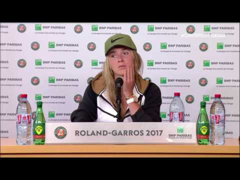 Elina Svitolina Press Conference RG17 - 7th of June