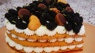 Медовый торт ТОРТ для МУЖА Торт с ягодами и крем чиз МЕДОВЫЕ КОРЖИ НОВЫЙ РЕЦЕПТ
