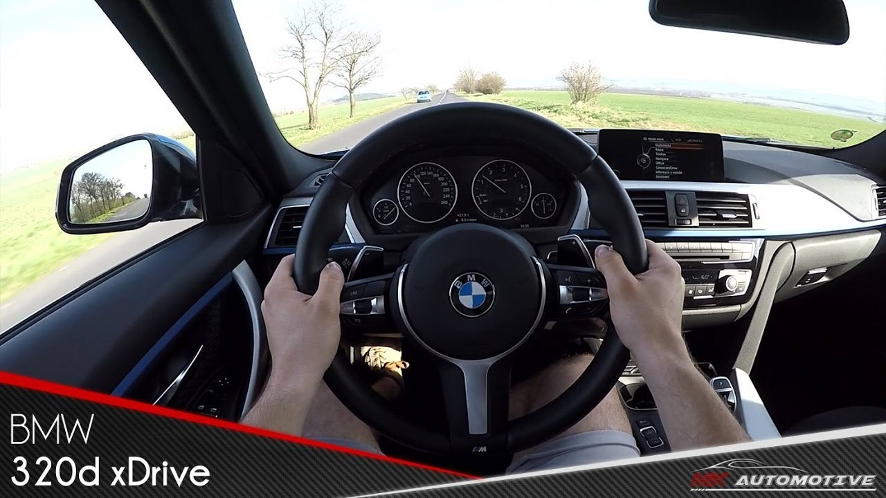 BMW 320d xDrive POV Test Drive + Acceleration 0 - 200 km/h