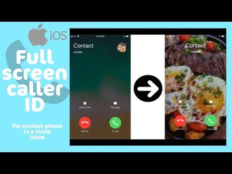 full screen caller iphone 4