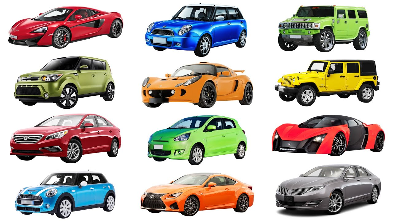 H to M  Brand of cars names of cars transportation for kids. Street vehicles for children  YouTube
