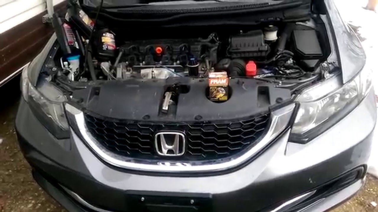 Honda Civic 2014 Oil   Filter Change-correct Way