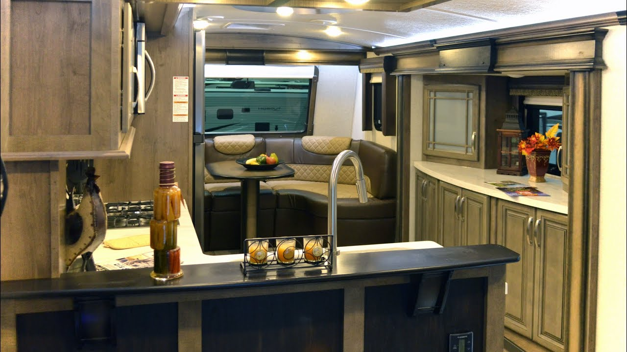 2018 montana front kitchen fifth wheel rv interior tour