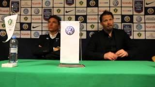 Presskonferens J-Södra-Ängelholm
