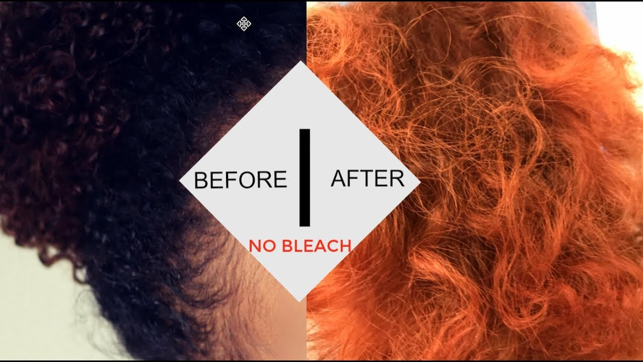 How I Dyed My Natural Hair Orange Without Bleach Youtube