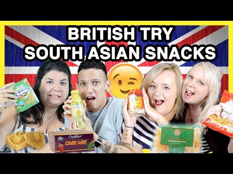 BRITISH TRY SOUTH ASIAN SNACKS!!