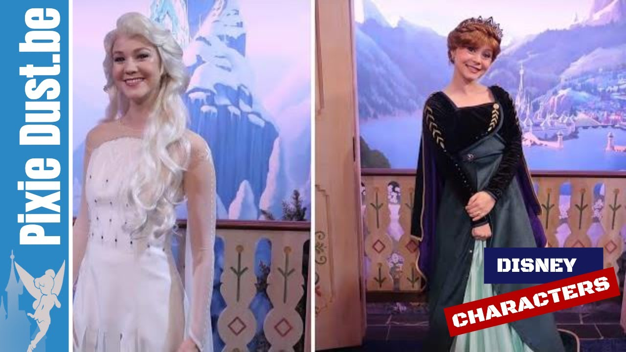 ❄ Debut new Frozen 2 outfits for Anna \u0026 Elsa at Epcot in Walt Disney World  2019