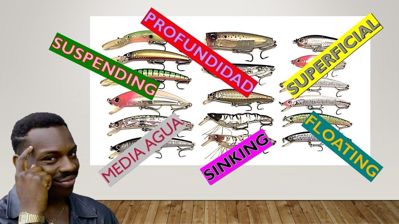 Señuelos de pesca: conociendo sus características [profundidad máxima de nado y acción del señuelo]
