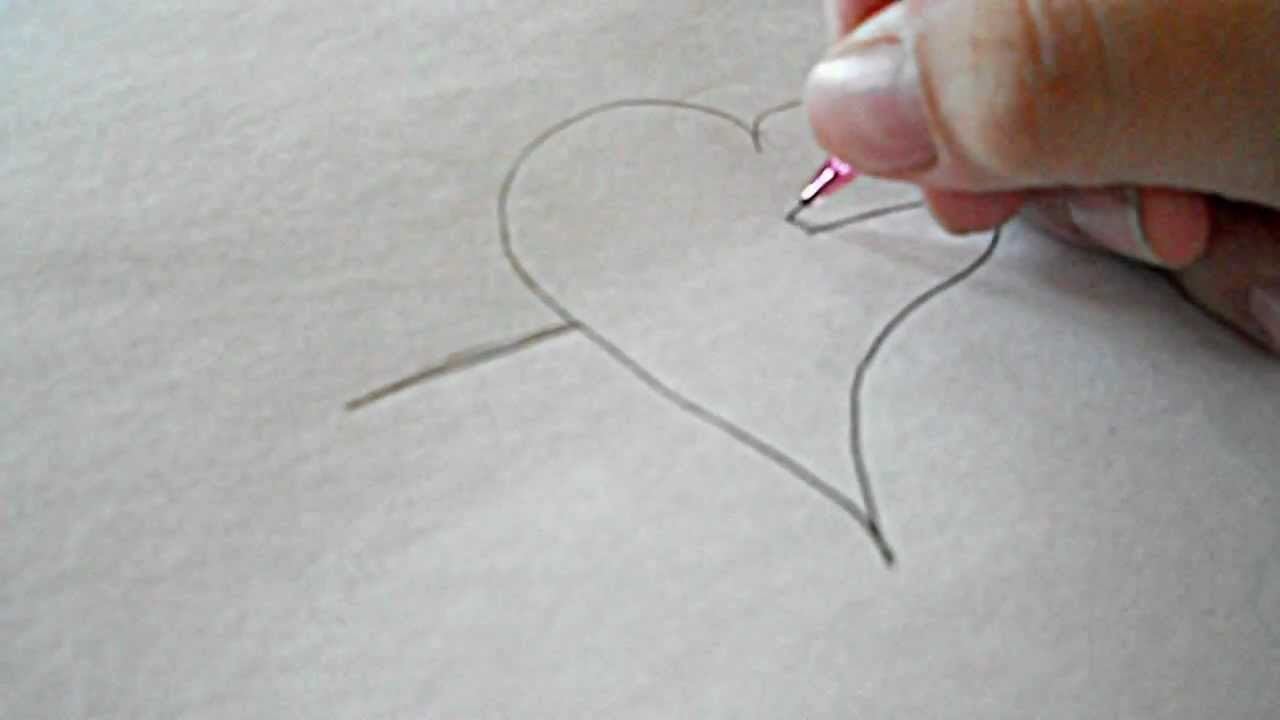 How To Draw A Emo Heart With An Arrow Through It