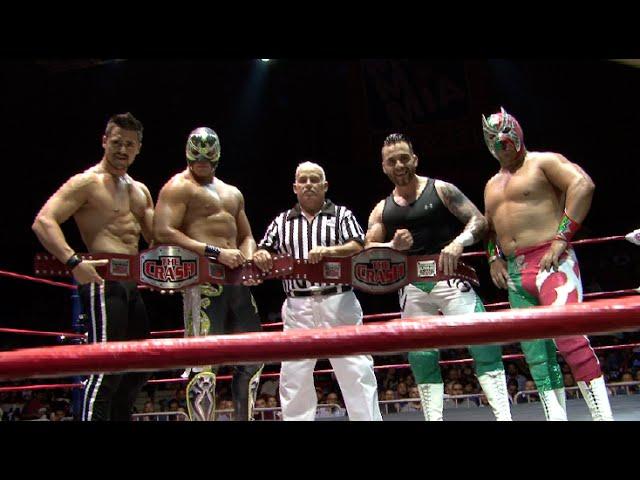 Garza Jr. y Último Ninja vs Tony Casanova y Zarco, campeonato de parejas  The Crash - YouTube
