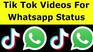 This tutorial is about how to put tiktok video on whatsapp status. 2020 released trick works for all pc,android mobile devices and ios iphone also. now ...