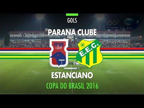 Gols - Paraná Clube 2 x 0 Estanciano - Copa do Brasil - 21/04/2016