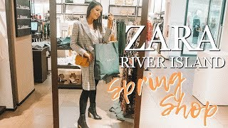COME SHOPPING WITH ME | ZARA & RIVER ISLAND SPRING SHOP & TRY ON
