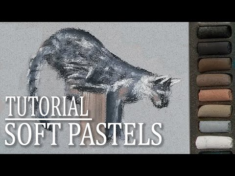 How to sketch cats in soft pastels | Easy drawing tutorial thumbnail