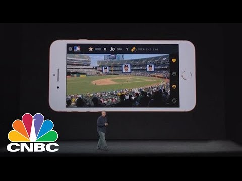Watch Apple Demonstrate The New iPhone 8's Augmented Reality Features   CNBC