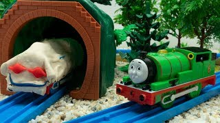 Thomas and Friends Toy Trains Play Doh is Ghost in Cave - Train Toy for Children