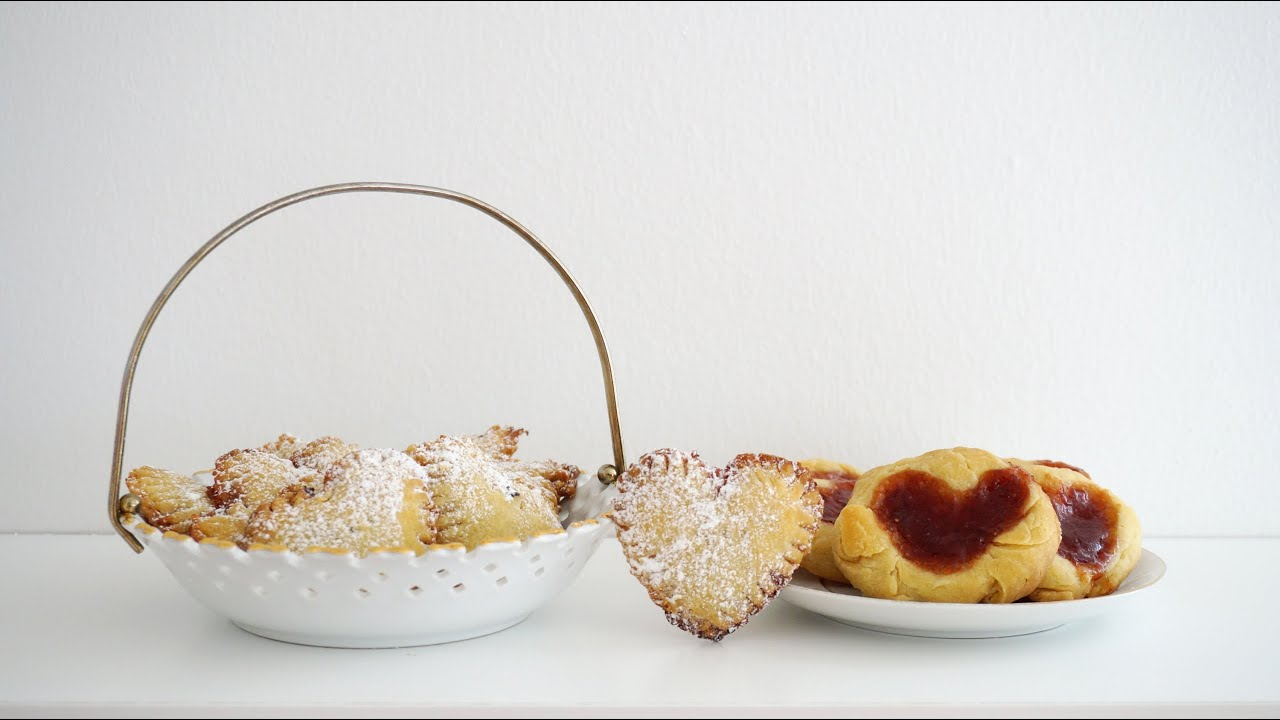 Sweetie pies & Strawberry heart thumbprint cookies - YouTube