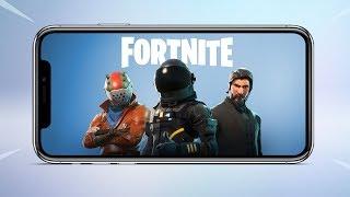 FORTNITE BATTLE ROYALE MOBILE TRAILER (iOS) IPHONE X  HD (2018)