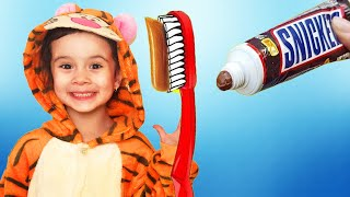 Put on your shoes song .morning routine brush teeth.Nursery Rhymes & Kids Songs.Funny Leyla