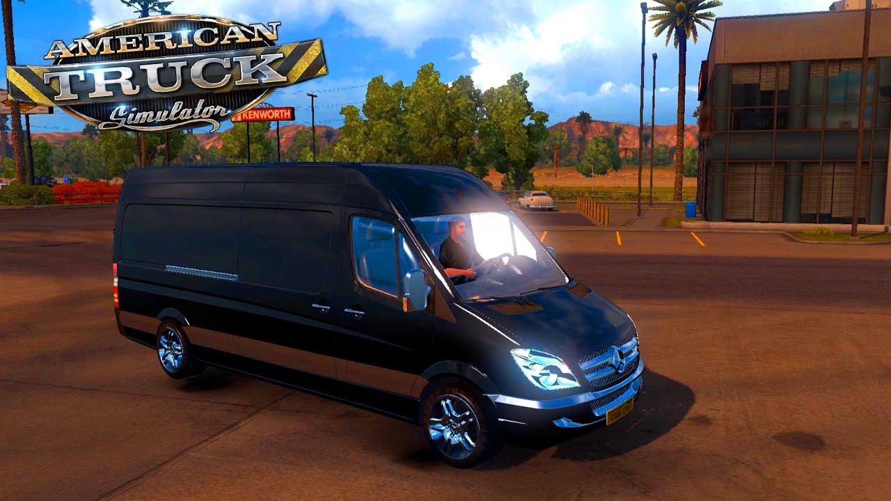 american truck simulator mods mercedes sprinter. Black Bedroom Furniture Sets. Home Design Ideas