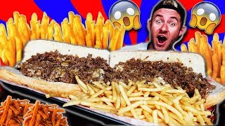 THE MONSTER TEXAS CHEESESTEAK CHALLENGE! (15,000+ CALORIES)