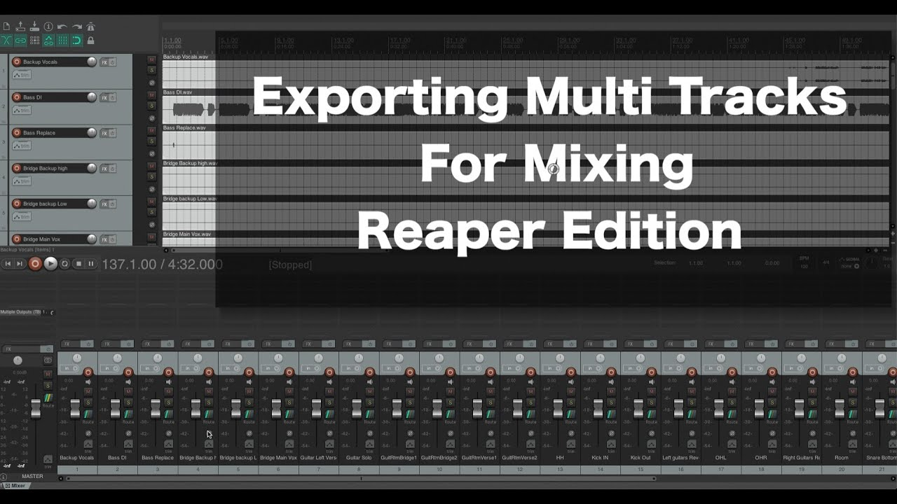 How to Export Tracks From Reaper For Mixing