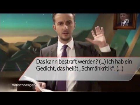 Jan Böhmermann versus Erdogan Schmähkritik Schmähgedicht (20.04.2016 Sandra Maischberger)