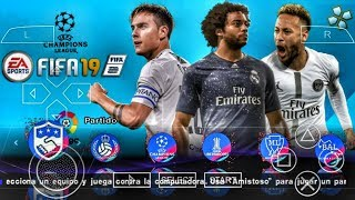 FIFA 19 PPSSPP Android Offline 500MB Best Graphics New Kits Face & Transfers Update