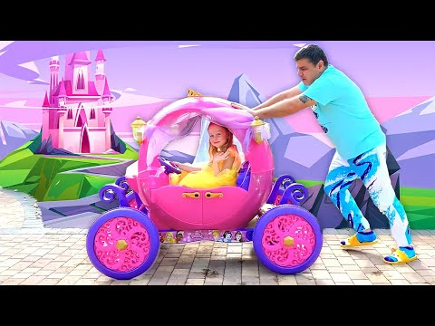 Nastya nhờ bố mua váy mới và đồ chơi trang điểm