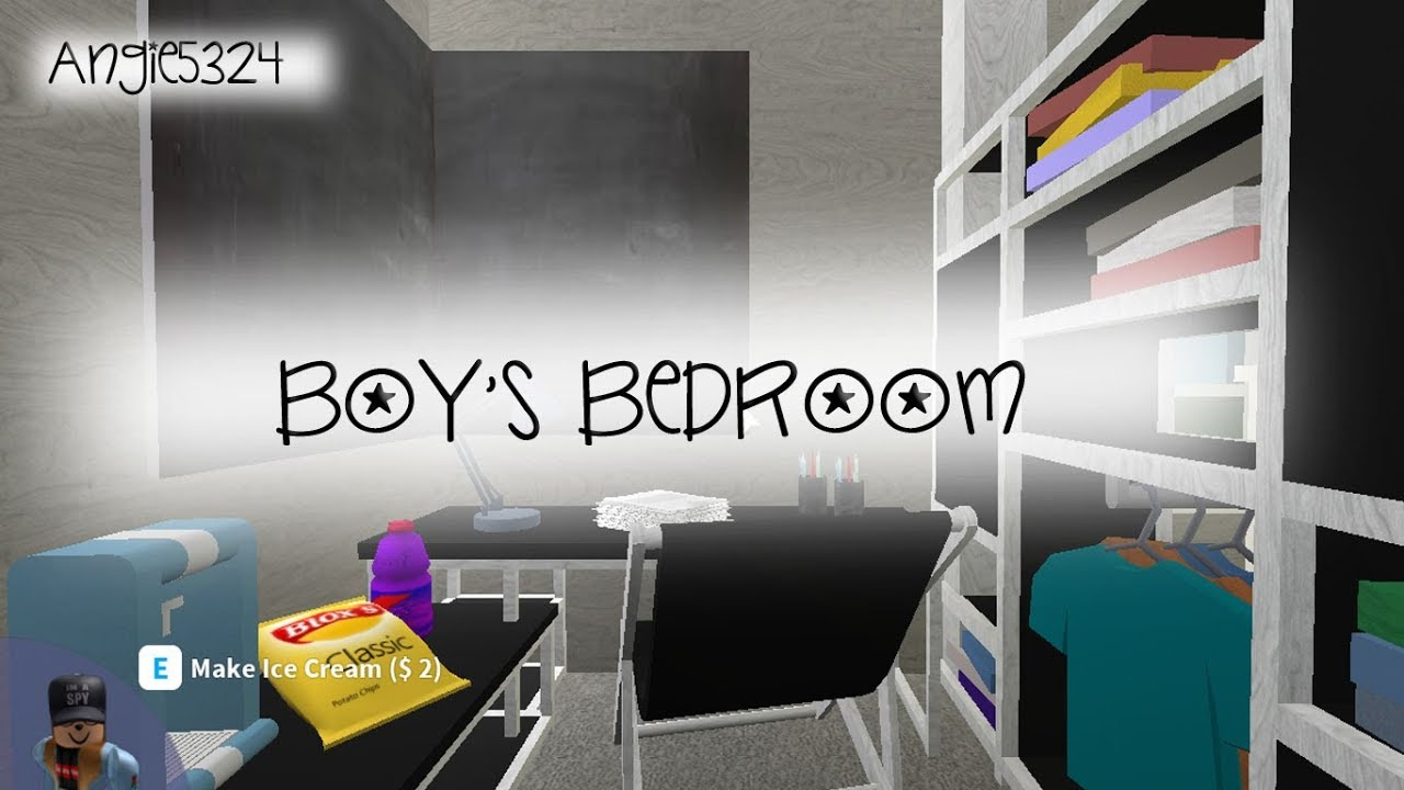 Welcome To Bloxburg Boy S Room Speed Build Youtube