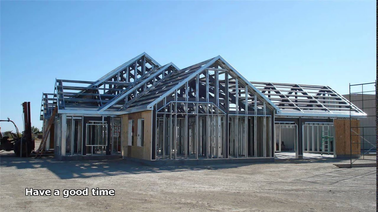 Steel frame houses youtube Steel frame homes