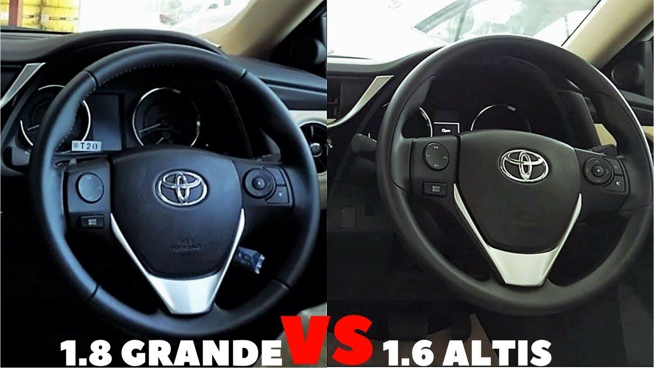 2018 toyota grande. plain toyota 20172018 toyota corolla facelift  16 altis vs 18 grande  in pakistan  with 2018 toyota grande v