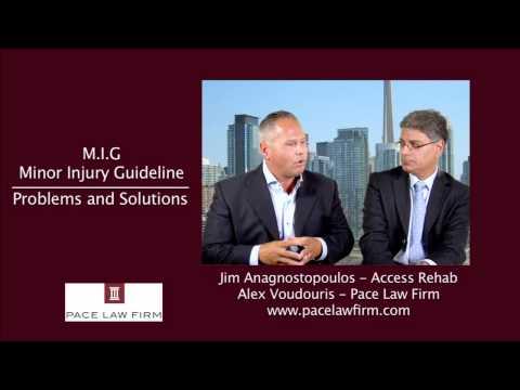 Toronto Personal Injury Lawyers – Minor Injury Guideline