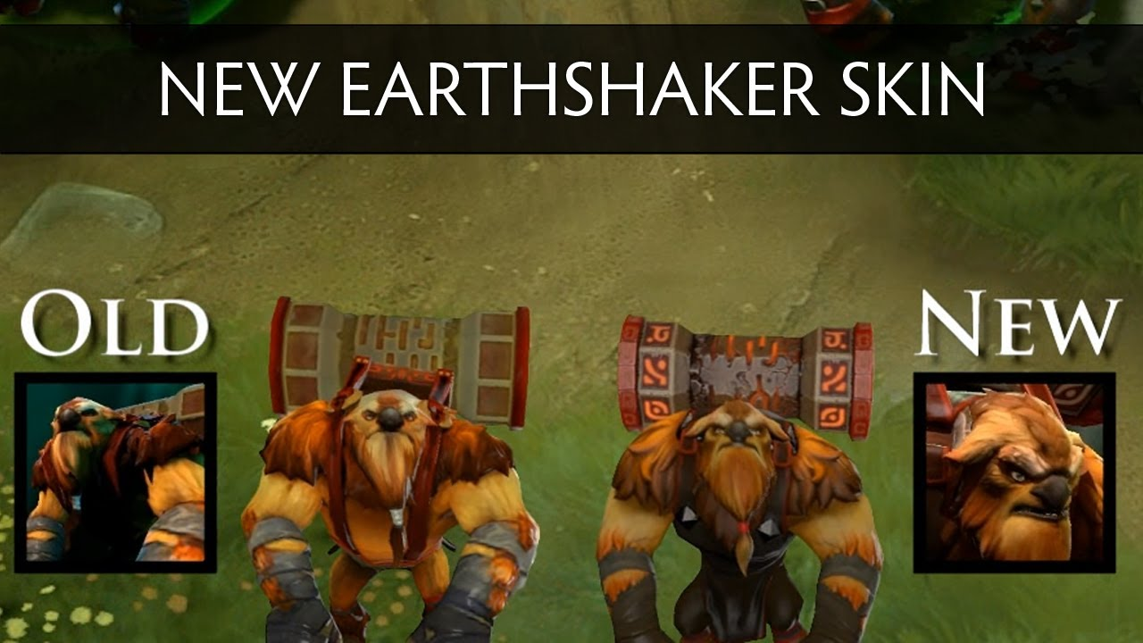 Dota 2 New Earthshaker Skin And Effects Side By Side