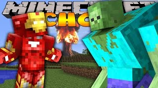Minecraft School : IRON MAN SAVES THE SCHOOL!
