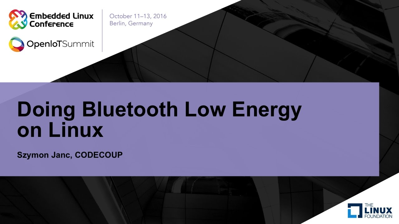 Doing Bluetooth Low Energy on Linux