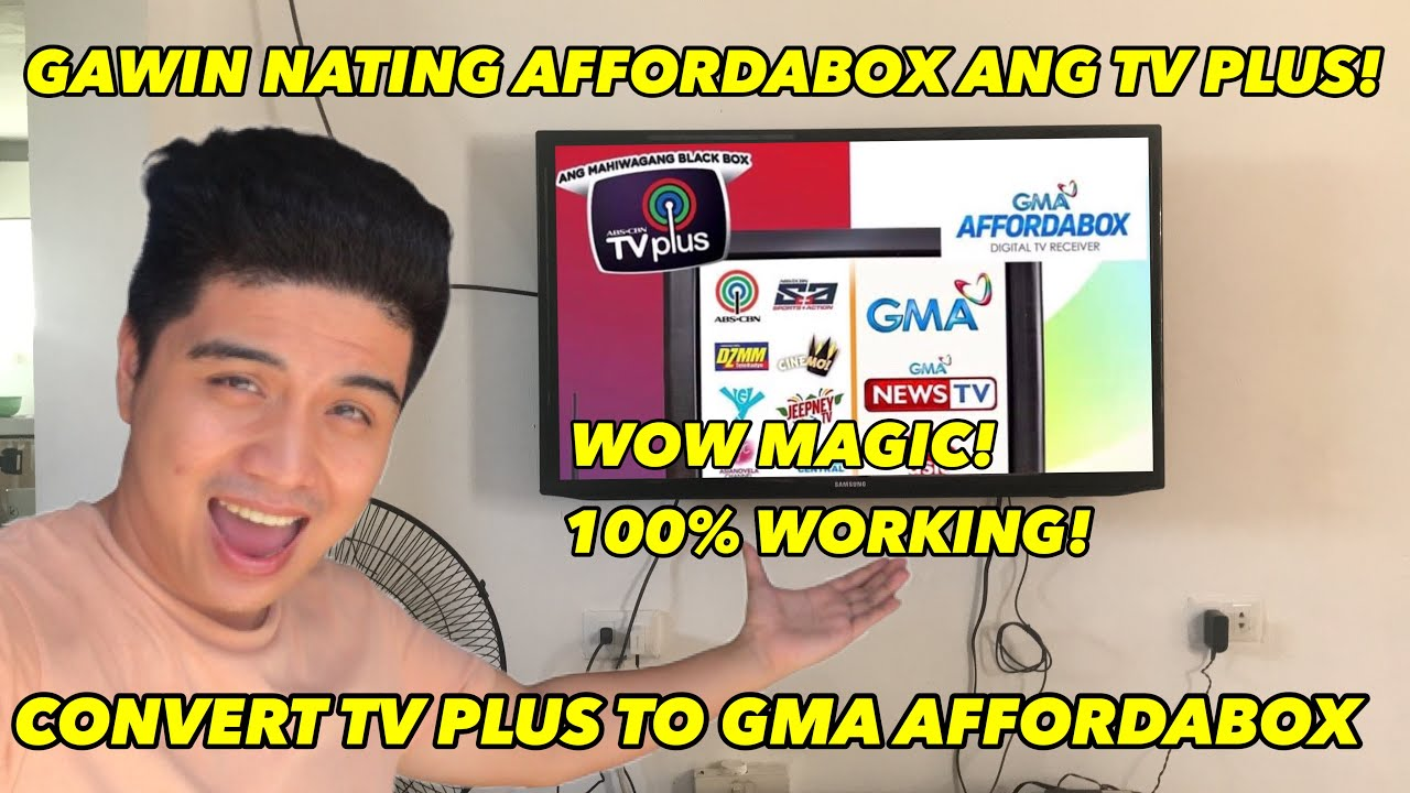 Gawin nating GMA AFFORDABOX AND TV PLUS MO! 100% working! Natry ko to!
