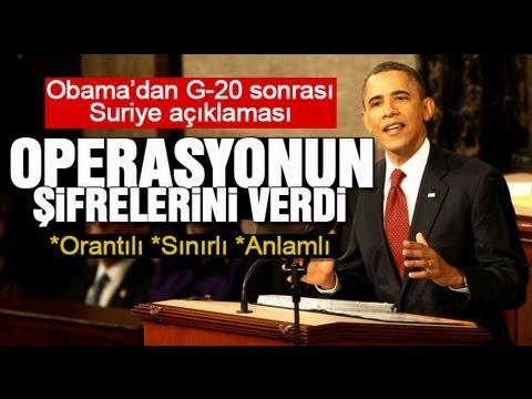 Obama'dan G-20 Sonrası Suriye...