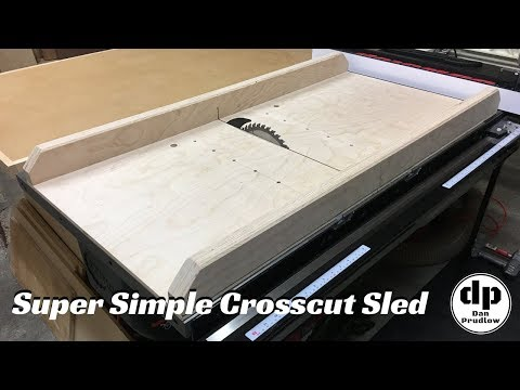 how to make a table saw sled video