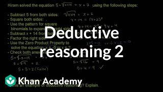 Deductive Reasoning 2