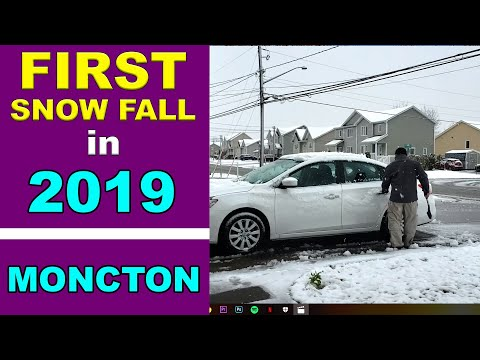 First Snow Fall In Moncton, New Brunswick 2019-2020 Winter Season